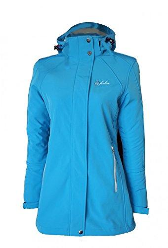 Dry Fashion Damen Softshell Mantel Sylt tailliert Regenmantel Regenjacke, Größe:42, Farbe:himmelblau