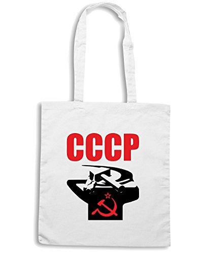 T-Shirtshock - Borsa Shopping TCO0037 CCCP comunismo Bianco