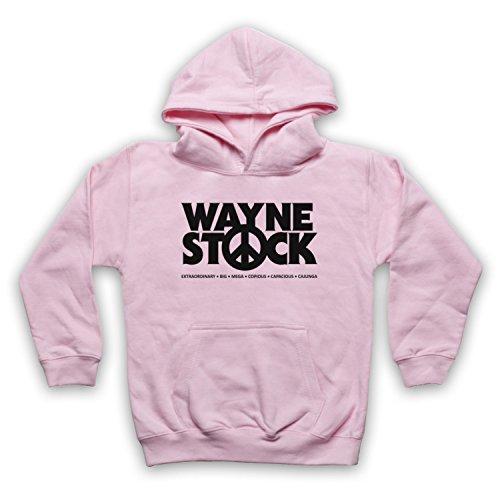 Inspiriert durch Waynes World 2 Waynestock Unofficial Kinder Kapuzensweater, Hellrosa, 12-13 Jahren