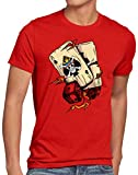 style3 One Ace Camiseta para Hombre T-Shirt Poker Piece Sombreros Anime Manga,...