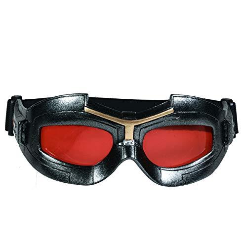 Captain Falcon Kostüm - Wellgift Falcon Eye Maske Cosplay Kostüm Sam Wilson Resin Brille mit Roter Linse Halloween Erwachsene Herren Masken