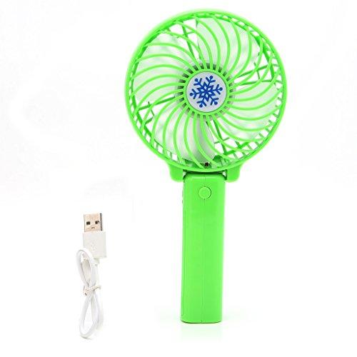 Kofun Mini Fan, Tragbare Haltegriff-Fan, Faltbare Handheld-Mini-Fan USB-Power Wiederaufladbare batteriebetriebene Hand Bar Fans Handheld-Lüfter Wiederaufladbare - grün (mit Originalverpackung)