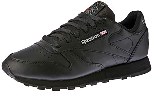 Reebok Damen Classic Leather Sneakers, Schwarz (Schwarz/Black), 37.5 EU