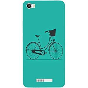 Casotec Lets Cycle Pattern Design Hard Back Case Cover for Lava Iris X8