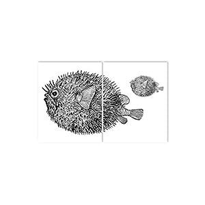 Boubouki - Wasserabweisende Fliesenaufkleber für Bad und Küche - Googly Poster - 20x25cm, Transparent