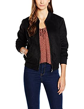 DOUBLE AGENT Suede Neoprene Bomber, Chaqueta para Mujer