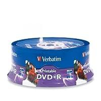 محرك أقراص DVD قابل للتسجيل من VERBATIM - DVD+R - 16x - 4.70 GB - 25 حزمة أسطوانة / 96190 /
