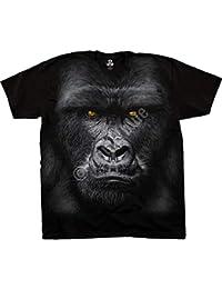 bb81254857517a Liquid Blue Offiziell Lizenziertes Unisex T-Shirt - Majestätischer Gorilla