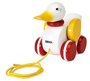 BRIO Pull-along Duck - White