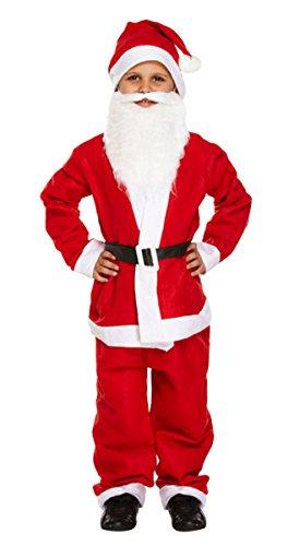 Kostüm Boy Santa - Kind Santa Boy 5PCS Kostüm Weihnachts Kleid bis Weihnachten Fancy Kleid Anzug