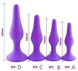 4 plug in silicone per donne e uomini (viola).