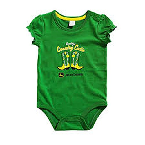 John Deere Baby Mädchen (0-24 Monate) Kleid Gr. 6 Monate, grün (Johns Kleider)