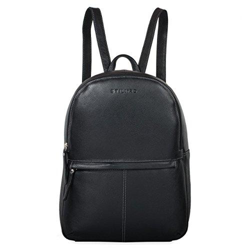STILORD 'Conner' Zainetto pelle uomo donna Zaino vintage porta pc portatile 13,3' in cuoio grande Borsa per l'università, Colore:nero