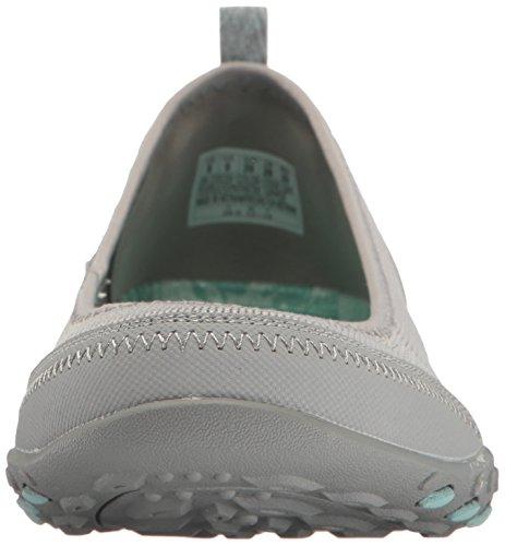 Skechers Breathe Easy Symphony Le glissement des femmes sur des chaussures Memory Foam Grey