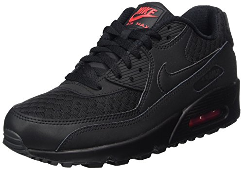 Nike Herren Air Max 90 Essential Laufschuhe, Schwarz (Black/Black/Metallic Silver), 47 EU
