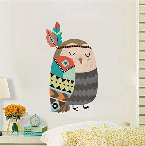 d476f768f695 wassaw Lovely Owl Wall Sticker Tribe Arrow Animal Wall Decal Nursery Art  Wallpaper Poster per Bambini Baby Room Home Decor