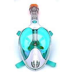 CHQSMZ Masque De Plongée Masques De Plongée en Masque Intégral Voir 180 Masque De Plongée sous-Marine pour La Plongée sous-Marine, Anti-Buée, Anti-Buée Rouge/Noir/Bleu/Vert L/XL Odm-Vert