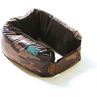 Cuscino da viaggio 4in 1multifunzione per cuscini a forma di U scialle sciarpa e coperte, Brown camouflage, taglia