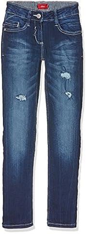 s.Oliver Mädchen Jeans Hose, Blau (Blue Denim Stretch 56Z7), 152