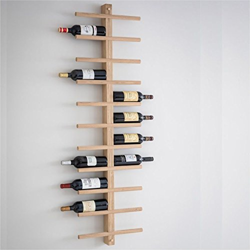 CKB Ltd 22 Flaschen Large Wall Mounted Wine Rack Weinflaschen-Wandhalter Flaschenregal Wandregal Raw...