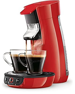 Senseo Viva Café HD6563/80 coffee maker Freestanding Pod coffee machine Red 0.9 L 6 cups Fully-auto Viva Café HD6563/80, Freestanding, Pod coffee machine, 0.9 L, Coffee pod, 1450 W, Red
