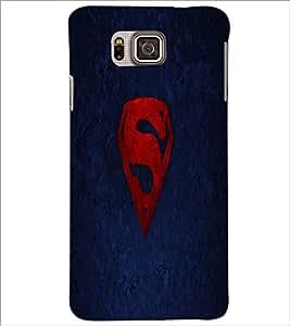 PrintDhaba Superman Logo D-2334 Back Case Cover for SAMSUNG GALAXY ALPHA (Multi-Coloured)