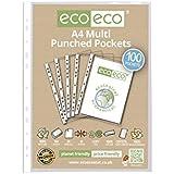 eco-eco A4100% reciclado de vidrio suave transparente fundas de plástico x 100