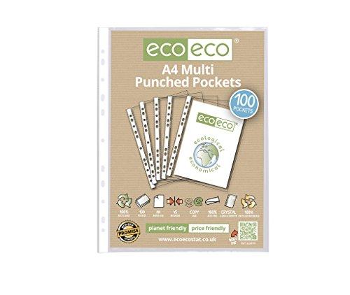 eco-eco-a4-100-reciclado-de-vidrio-suave-transparente-fundas-de-plastico-x-100