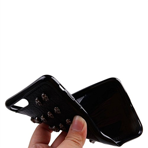 GHC Cases & Covers, Für iPhone 7 Plus Niet-Art-Muster TPU + Metall weicher schützender rückseitiger Abdeckungs-Fall ( SKU : Ip7p1211x ) Ip7p1211m