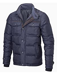 VEDONEIRE Mens City Jacket (3061 NAVY) padded puffed blue coat