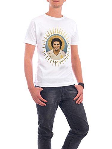 """Design T-Shirt Männer Continental Cotton """"Ikone Hugo Sanchez"""" - stylisches Shirt Sport / Fußball von David Diehl Weiß"""