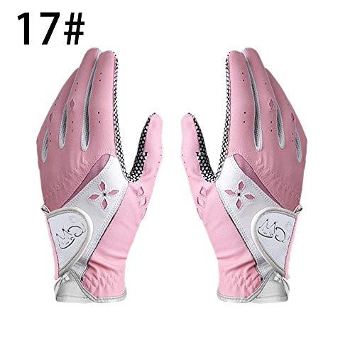 Glory.D Golfhandschul für Damen Anti-Rutsch-Handschuhe für Damen aus PU-Gewebe
