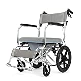 WANGXN Wheelchairs Folding Lightweight Portable Transit Travel Chair Aluminium