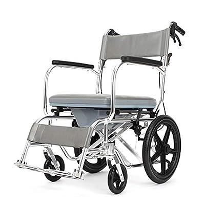 WANGXN Wheelchairs Folding Lightweight Portable Transit Travel Chair Aluminium