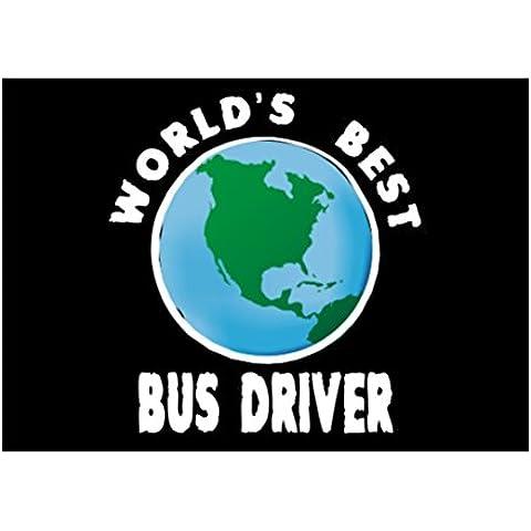 Teeburon WORLD'S BEST Bus Driver globe Sticker Pacchetto di 4