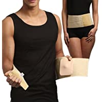 UMBILICAL HERNIA BELT, Abdominal Binder, Navel Truss with Removable Bandage, Medical Support Wrap (Size 2) by FROM-EUROPE