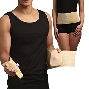 Ceinture pour hernie ombilicale avec bandage amovible (Taille 2)