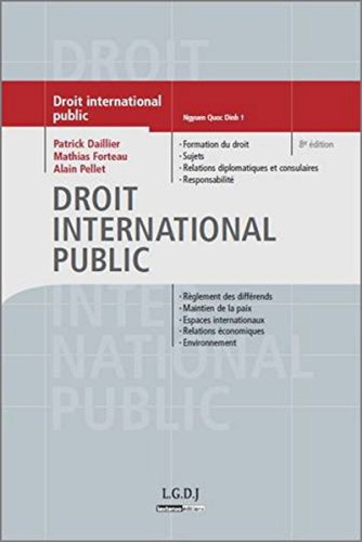 Droit international public 8ed par Dailler