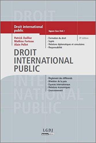 Droit international public 8ed par Dailler