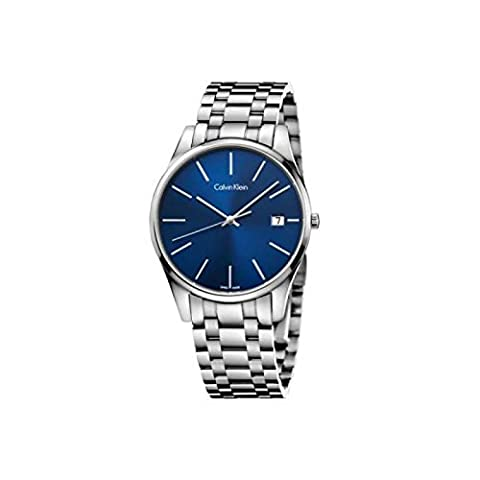 Calvin Klein – Calvin Klein Watch CK (3 Hours) Collection Blue Dial Date Window Stainless Steel