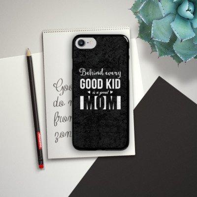Apple iPhone X Silikon Hülle Case Schutzhülle spruch mom muttertag Hard Case schwarz