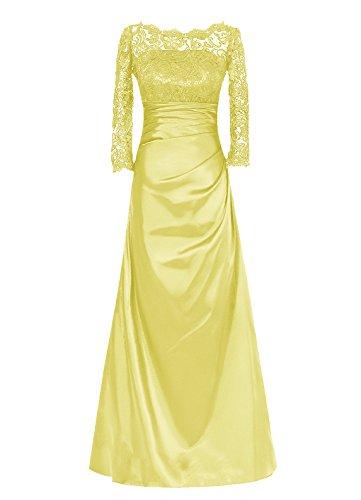 Dresstells, Robe longue de demoiselle d'honneur Robe de soirée Robe de mère de mariée Tenue de mariage Jaune