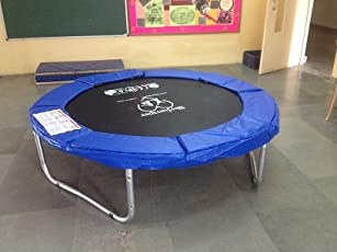SkyJumper Round Shaped Heavy Duty Jumper, 72-inch (Black and Blue)
