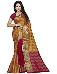 Nirja Creation Women's cotton Silk Half and Half Saree With blouse