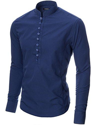 MODERNO Freizeit Langarm Herrenhemd (MOD1431LS) Blau