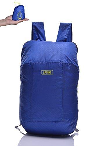 GEERTOP Daypack Rucksack Reiserucksack Tagesrucksack Trekkingrucksack Faltbarer Tragbarer Ultraleicht Wasserdichter 70g für Outdoor Wandern Camping (Hellblau)