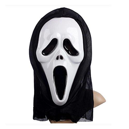 FYX Halloween kostüm Mask Terrorist Maske horror Cosplay Scream Ghostface (Film Scream Kostüm 4)