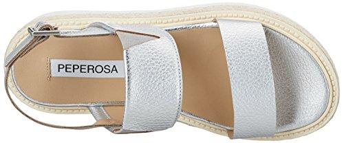 PEPEROSA 924, Sandales Compensées femme Silber (Argento)
