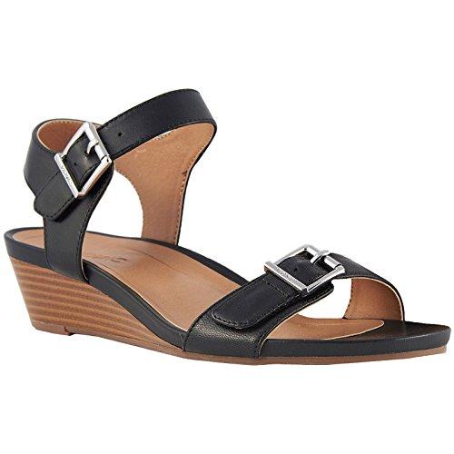 fd90de7b8da0 Vionic Womens Port Frances Leather Sandals