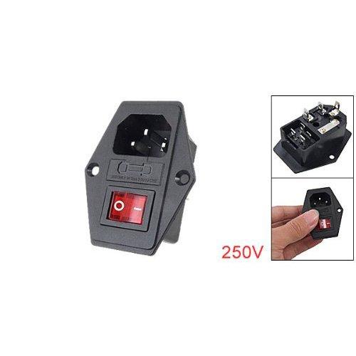 Spinotto adattatore maschio,modulo interruttore a 3 Pin IEC320 C14,10A 250V
